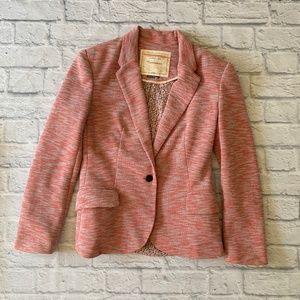 Anthropologie Cartonnier Pink Tonal Knit Blazer